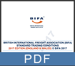 BIFA standard trading conditions